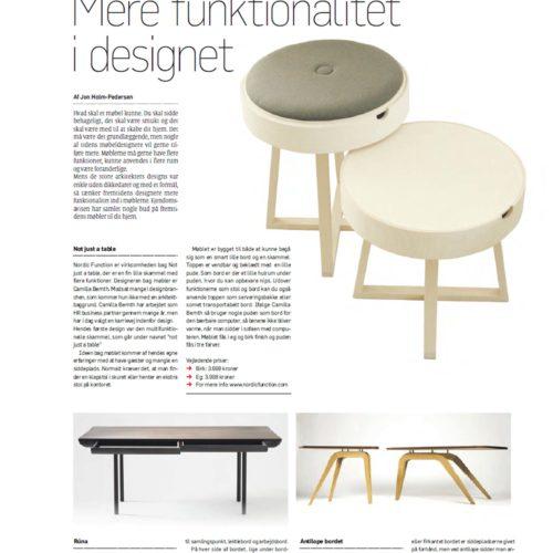"""Not just a table"" in Ejendomsavisen"
