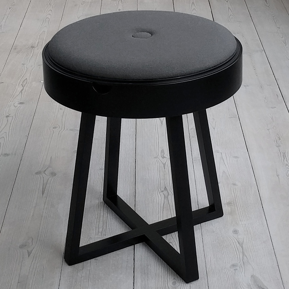 Nordic Function Not just a table bord og taburet i et med vendbar plade Danish design table and stool in one in black oak