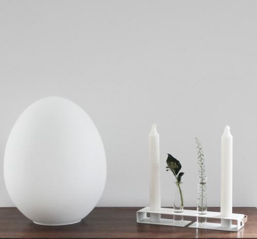 Nordic Function Simply4 blomstervase og lysestage i hvid metal enkelt stilrent design