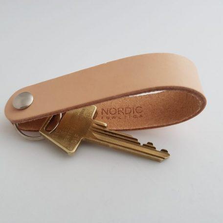 nøglering læder, keyholder, lædernøglering