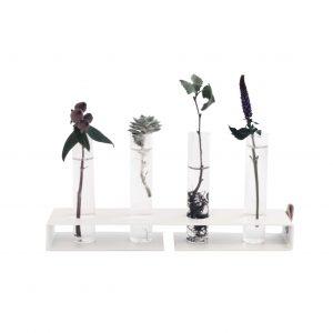 Nordic Function Simply4 blomster vase med 4 cylinder glas til små blomster og stiklinger dansk design