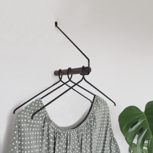 Add More coat rack in oak and metal